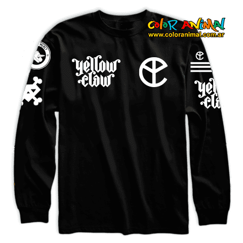 Remera Manga Larga Yellow Claw Blood For Mercy