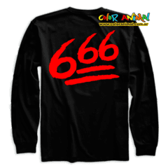 Remera Manga Larga Skrillex Defeated 666