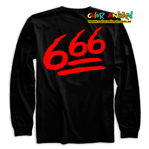 Remera Manga Larga Skrillex Defeated 666 - comprar online