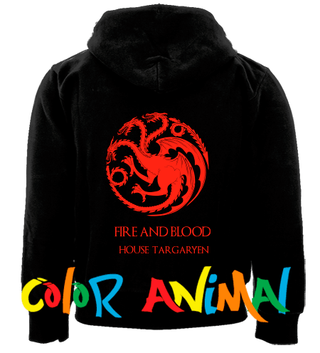 House Targaryen Fire and Blood Game of Thrones Camperas Color Animal