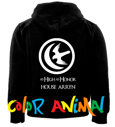 House Arryn As High As Honor Game of Thrones Camperas Color Animal