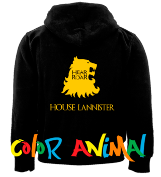 House Lannister Hear Me Roar Game of Thrones Camperas Color Animal