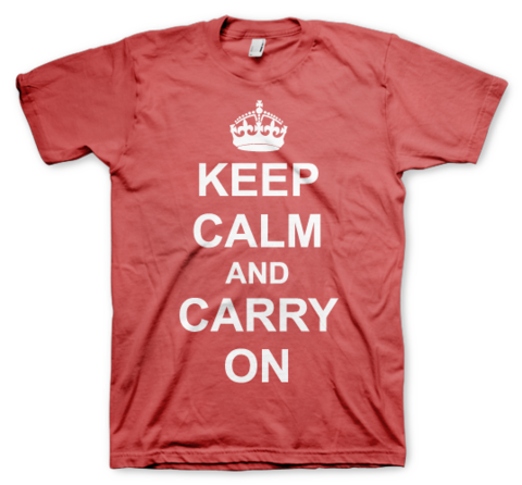 Keep Calm and Carry On Color Animal
