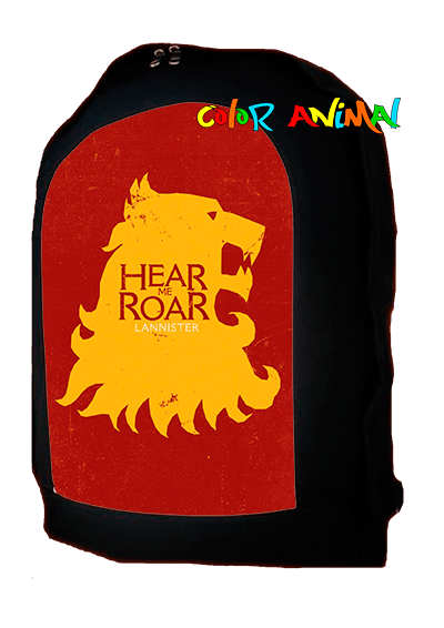Mochila Hear Me Roar Lannister Game Of Thrones