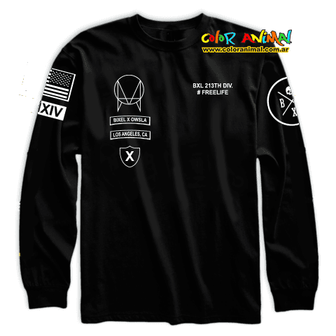 Remera Manga Larga Owsla LAX Freelife