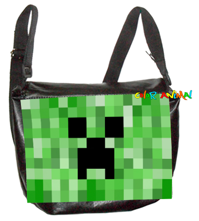 Morral de Cuerina Minecraft Creeper