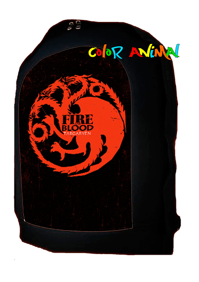 Mochila Fire and Blood Targaryen Game of Thrones Color Animal