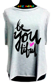 Musculosa Be You Tiful Color Animal  Estilo Rockera Mujer 100% Modal Premium  Estampado Sublimado Hi Definition