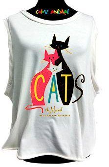 Cats - Remeras Color Animal  Musculosa Mujer