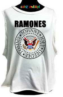 Ramones - Remeras Color Animal  Musculosa Mujer
