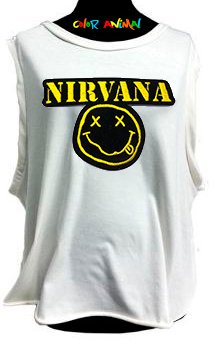 Nirvana Smiley - Remeras Color Animal  Musculosa Mujer