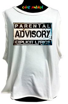 Parental Advisory - Remeras Color Animal  Musculosa Mujer