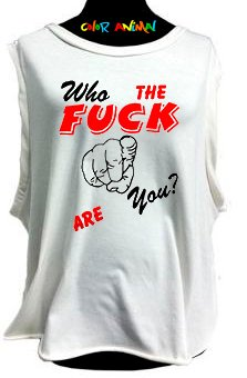 Who the Fuck are You? - Remeras Color Animal  Musculosa Mujer