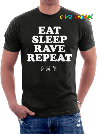 Remera Eat Sleep Rave Repeat