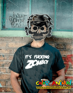 Remera Zomboy Estampado Interior Color Animal