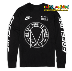 Remera Manga Larga We Get Ours at Night Bixel OWSLA