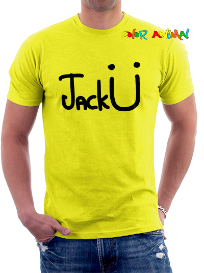 Jack Ü Logo Remeras Color Animal