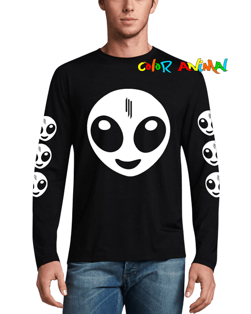 Remera Manga Larga Skrillex Recess Remeras Color Animal