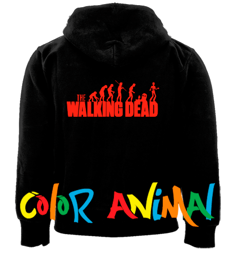 The Walking Dead Camperas Color Animal  Camperas 100% Algodon con Capucha,