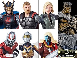 Set x6 Figuras Marvel Legends Infinity War Wave 2 (BAF Cull Obsidian)