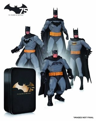 Set x4 Figuras DC Batman 75th Anniversary
