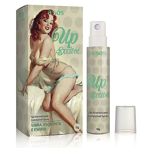 Gel Up Excitee Excitante Comestível Spray A Sós