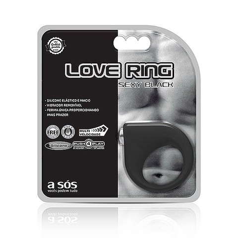 Anel Vibratório Love Ring Sexy Black