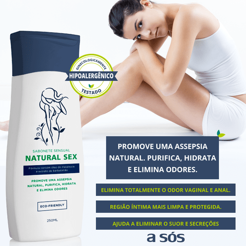 Sabonete Íntimo Líquido Natural Sex 250ml