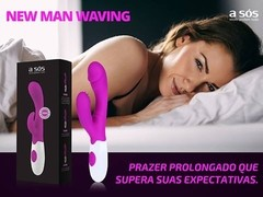 Vibrador Multivelocidade New Man Waving Clitoriano