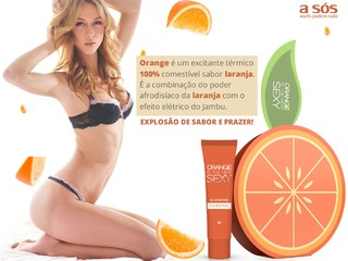 Gel Excitante Comestível Orange Sexy - 8g