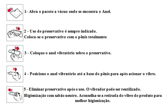 Manual de uso do anel vibratório