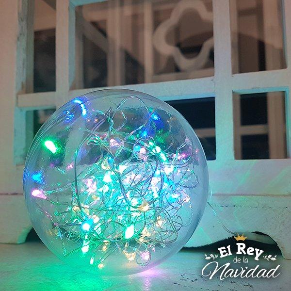 af335c5663773 Bola Cristal PVC con Luces Led Multicolores