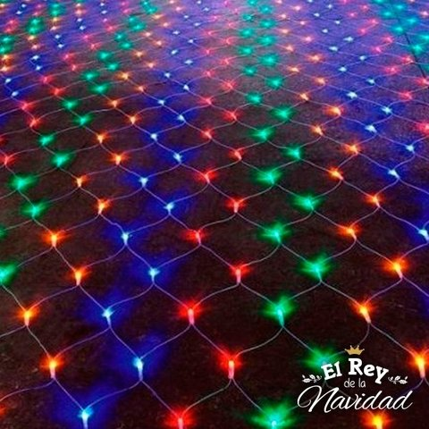 Red de Luces Led Multicolor 140cm x 180cm