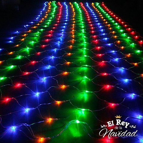 Red de Luces Led Multicolor 140cm x 180cm - comprar online