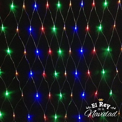 Red de Luces Led Multicolor 140cm x 180cm en internet
