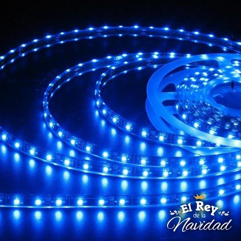 Cinta Led Azul 5050 5mts con transformador