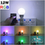 Lampara Luz Led Rgb 16 Colores Control Remoto Foco 12w en internet