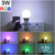 Lampara Luz Led Rgb 16 Colores Control Remoto Foco 3w en internet