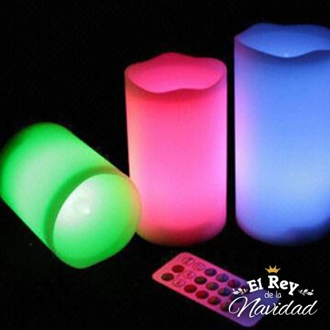 Kit 3 velones LED RGB con Control Remoto - comprar online