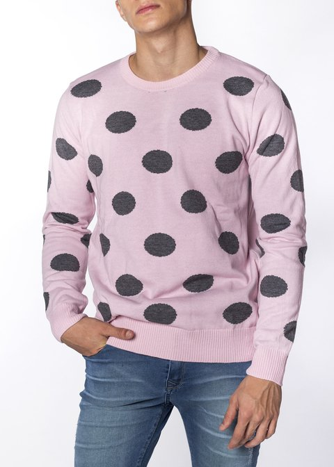 Sweater Lunares Rosa