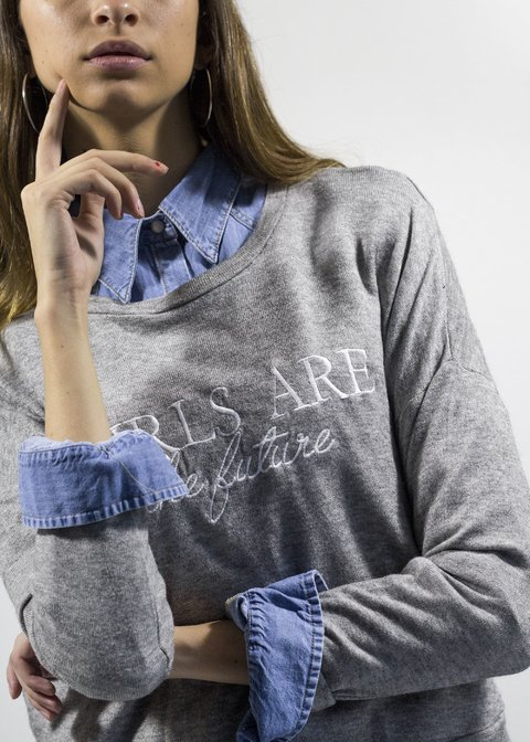Sweater Girls Gris