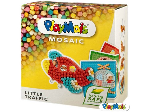 Playmais Mosaicos Juego Didáctico Mais Biodegradable Alemán - Little Traffic