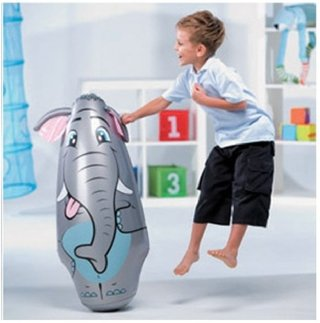 Punching Ball Inflable Involcable Animales