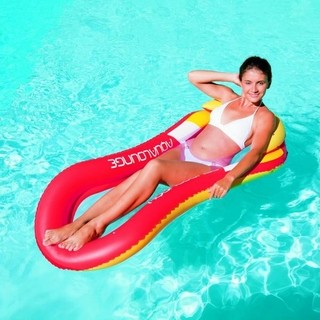 Bestway Colchoneta Inflable Lounge con Red Tienda Pepino