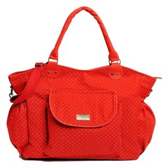 Happy Little Moments Bolso Cartera Maternal Lola Rojo Pintitas Blancas