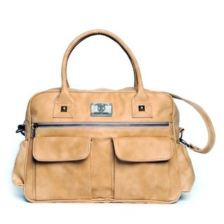 Happy little moments Bolso Cartera Maternal Ecocuero marina beige