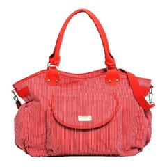 Happy little moments Bolso Cartera Maternal Gabardina Marinero Rojo