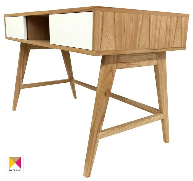 escritorio estilo escandinavo madera de paraiso estilo nordico escritorio de