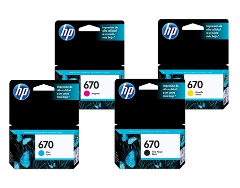 Cartucho HP 670 - Pack 4 colores