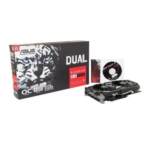 Placa De Video Asus Radeon Rx 580 8gb Dual Oc Gddr5